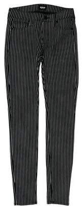 Hudson Mid-Rise Striped Jeans