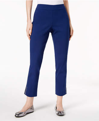 JM Collection Stud-Embellished Ankle Pants