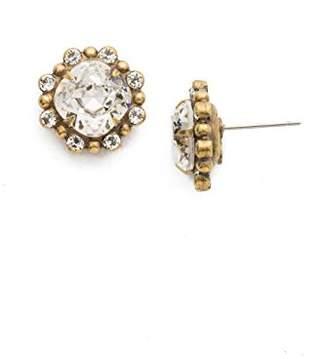 Sorrelli Women's Crystal Adorned Cushion Cut Stud Earrings
