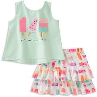 Kate Spade Girls' Ice Pop Print Tank & Skirt Set