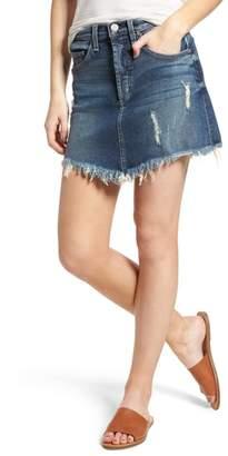 McGuire Izabel Angled Hem Denim Skirt