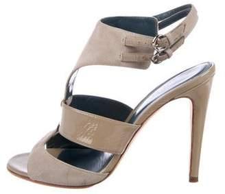 Sergio Rossi Suede Multi-Strap Sandals