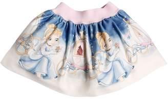 MonnaLisa Cinderella Printed Viscose Skirt