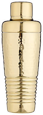 John Lewis & Partners Hammered Stainless Steel Cocktail Shaker, Gold