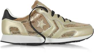 Converse Limited Edition Auckland Racer Ox Light Gold Leather Sneakers w/Sequins