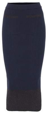 Kenzo Ribbed wool-blend midi skirt