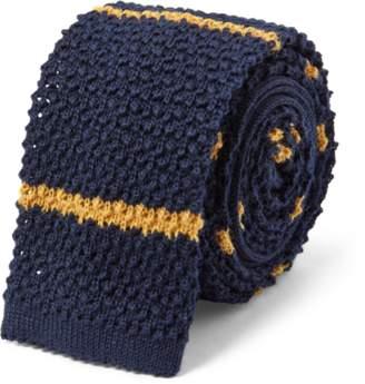 Ralph Lauren Striped Knit Wool Tie