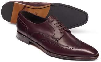 Charles Tyrwhitt Burgundy Derby Brogue Shoes Size 13