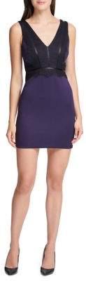 GUESS Lace Sheath Mini Dress