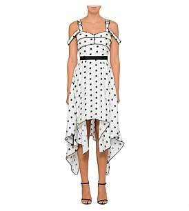 Self-Portrait Printed Star Handkerchief Dress