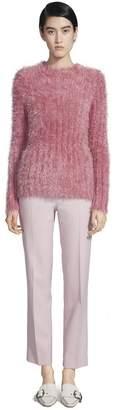 Sies Marjan Margo Lurex Fur Crewneck Sweater