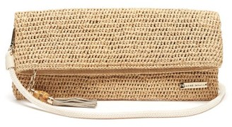 Heidi Klein Grace Bay Super Mini Raffia Clutch Bag - Womens - Beige