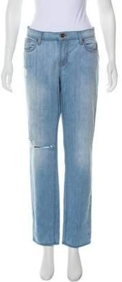 J Brand Mid-Rise Boyfriend Jeans