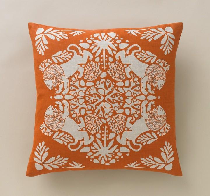 DwellStudio Lion Tangerine Pillow