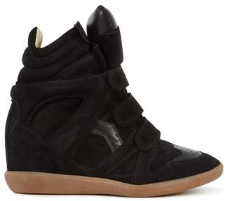 Isabel Marant Bekett Black Suede Wedge Trainers