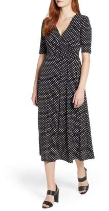 Chaus Garden Dot Midi Dress