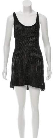 Balenciaga  Balenciaga Metallic Open Knit Dress
