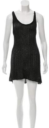 Balenciaga Metallic Open Knit Dress