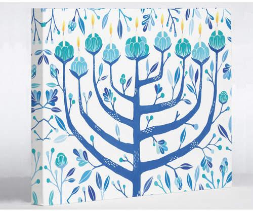 One Bella Casa Menorah 3 by Ana Victoria Calderon Graphic Art on Wrapped Canvas