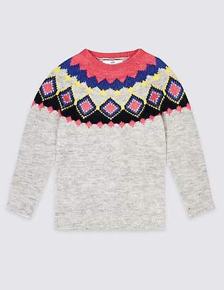 Marks and Spencer Fairisle Jumper (3-16 Years)