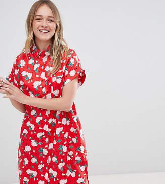 Monki Floral Polka Dot Shirt Dress