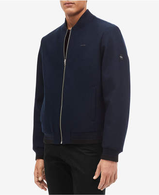 Calvin Klein Men Wool Bomber Jacket
