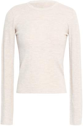 Theory Ribbed-knit Merino Wool-blend Top