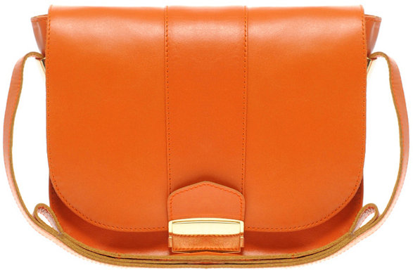 ASOS Leather Flat Lock Shoulder Bag