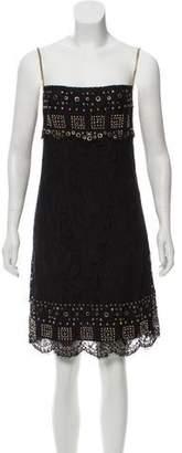 Emilio Pucci Embellished Lace Dress