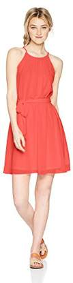 Amy Byer A. Byer Junior's High-Neck Blouson Dress