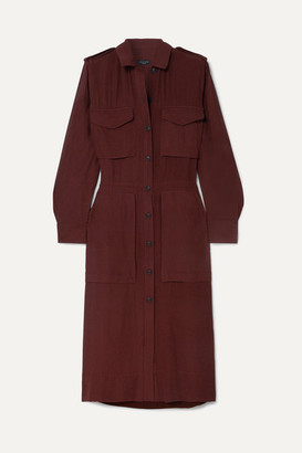 Rag & Bone Oasis Crinkled-voile Dress - Burgundy