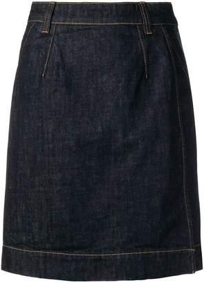 Carven A-line denim skirt
