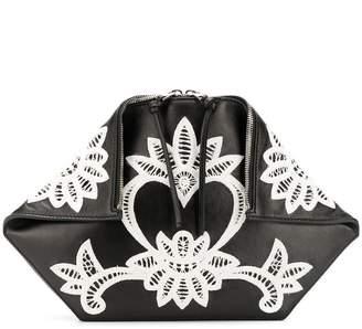 Alexander McQueen embroidered clutch