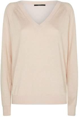 SET Metallic V-Neck Sweater