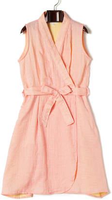 UCHINO (ウチノ) - UCHINO マシュマロガーゼ シャンブレー ベルト付 ラップドレス ピンク l