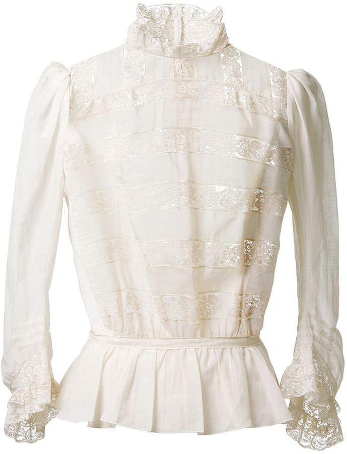 Marc Jacobs lace striped blouse