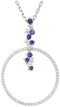 Miseno Vesuvio 18k Gold Diamond/Sapphire Pendant Necklace Necklace