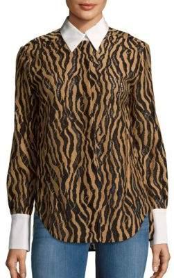 3.1 Phillip LimSilk-Trimmed Lace Shirt