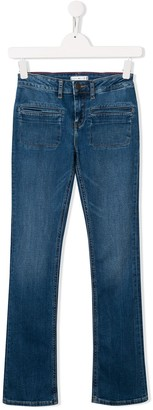 Tommy Hilfiger Junior front pocket stretch-fit jeans