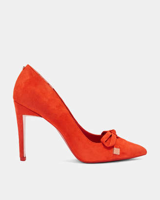 Ted Baker GEWELL Suede bow detail courts