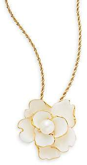 Kenneth Jay Lane Women's Flower Pendant Necklace