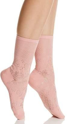 Natori Floral Fields Crew Socks