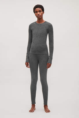 Cos FINE RIBBED CASHMERE TOP