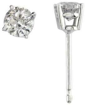 Effy 18K White Gold Diamond Stud Earrings
