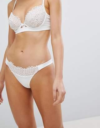 Asos DESIGN BRIDAL PREMIUM Corded Fan Lace Tanga Bikini Bottom