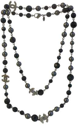 Chanel Black Pearls Long Necklace