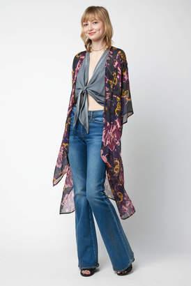 Elizabeth Gillett Open Weave Kimmy Solid Kimono