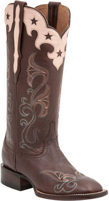 Lucchese Women's Scallop Top Star Leather Western Boot