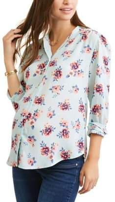 George Maternity Button-Front Printed Shirt