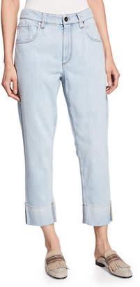 Brunello Cucinelli Acid-Washed Straight-Leg Jeans